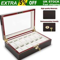 12 Grids Top Quality Watch Jewellery Display Storage Box Case Organizer Stand