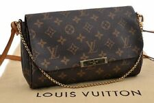 Authentic Louis Vuitton Monogram Favorite MM Shoulder Clutch Bag M40718 LV 90190