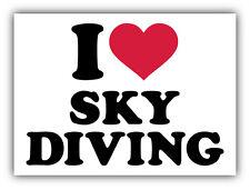 """I Love Sky Diving Car Bumper Sticker Decal 5"""" x 4"""""""