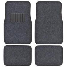 Auto Floor Mats for Car - Classic Carpet w/ Heelpad Charcoal 4 Pcs Front & Rear