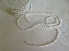 1 metre WHITE pearl trim / beading -fused * 5mm * white beads craft, cake decor