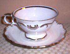 SCHUMANN ARZBERG GERMANY~Platinum Elegance Cup & Saucer~ Circa 1957-70