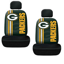 New NFL Green Bay Packers Printed Logo Car Truck 2 Front Seat Covers Set