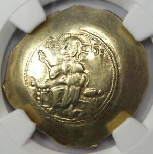 Nicephorus III EL Histamenon Nomisma Christ Coin 1078-1081 AD - NGC XF (EF)