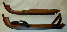 Antique 1850-1880 Friesland * Acorn Finial * Wood & Iron Speed Ice Skates