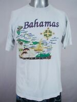 HD1606 VINTAGE 1980s **MAP OF THE BAHAMAS** INDIE-EMO T-SHIRT - 39