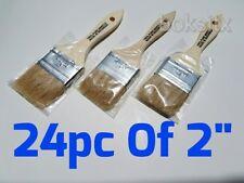 "24 pc 2"" Chip Brush Brushes Disposable Paint Glue Touchups 100% Pure Bristle"