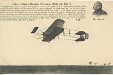 CARTE POSTALE / POSTCARD / AVIATION / BIPLAN MAURICE FARMAN PILOTE PAR BARRA