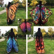 197*125cm Fashion Butterfly Wing Beach Towel Shawl Cape Printed Wrap Skirt DEN