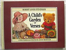 A Child's Garden of Verses Stevenson & Jannat Messenger 1st Ed HC 1992  Pop-Up