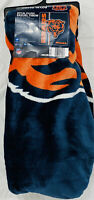 Chicago Bears Royal Plush Raschel Throw Blanket NWT NFL Authentic 50 x 60 Size