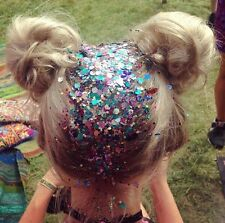 10 HAIR GLITTER POTS FESTIVAL SPARKLY RAINBOW FACE BODY UNICORN MERMAID