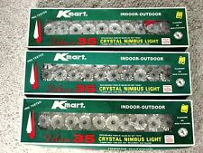 3 Boxes Vintage Kmart Crystal Nimbus Christmas String Lights NRFB