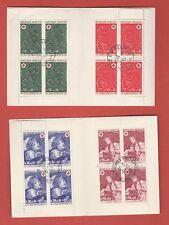 CARNETS CROIX ROUGE 1970 1971 1972 et 1977 oblitérés sur période