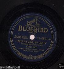Elton Britt on 78 rpm Bluebird 33-0521: Weep No More, My Darlin'/Some Day