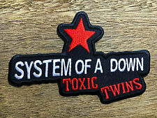 """NEW"" SYSTEM OF A DOWN TOXIC TWINS RED STAR IRON ON PATCH"