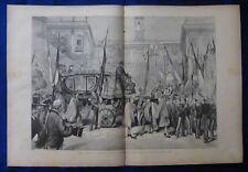 INCISIONE 1880 - COMMEMORAZIONE XX SETTEMBRE - ROMA SINDACO GIUNTA