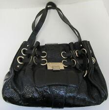 JIMMY CHOO Ramona Black Patent Leather Shoulder Bag
