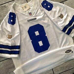 New! 1995 Wilson NFL Authentic Jersey Troy Aikman Dallas Cowboys Sz. 52 NWT VTG