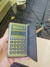 Vintage Texas Instruments TI-1766 Solar and Light Powered Calculator With Case