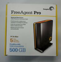 Seagate FreeAgent Pro 500GB External Hard Drive 12v Adapter USB Cable Desktop#BB