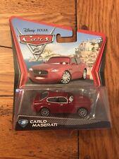 Mattel Disney Pixar Cars 2 CARLO MASERATI #25 Car 1:55 Scale