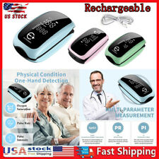 Rechargeable Finger Pulse Oximeter Blood Oxygen Saturation Monitor Heart Rate Us