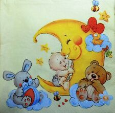 20 x Paper Napkins  FULL PACK  moon and baby   PARTY  LUNCH -205