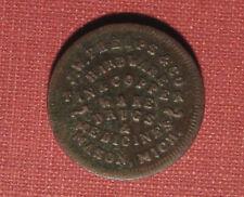 1863 CIVIL WAR TOKEN, STORE CARD - JW PHELPS, MASON, MI, 615A-1a, R9, VERY RARE!