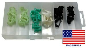 32 Piece Fuel Line Retainer Clip Assortment Kit Fits Ford Chrysler & GM - USA