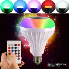RGB 12W Wireless LED Bluetooth Light Bulb Speaker Smart Music Play Lamp & Remote