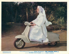 The Singing Nun Original Lobby Card Debbie Reynolds on moped scooter 1966