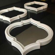 White Plastic Frame Decorative Mirrors