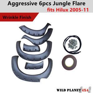 Black Fender Flares Jungle Guard Wheel Arch for Toyota Hilux 2005-2011 Aggressiv