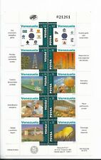 VENEZUELA 1995 PDVSA NATIONAL FOSSIL FUEL ASSOCIATION ANNIVERSARY MINISHEET