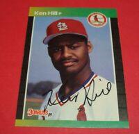1989 Donruss Cardinals KEN HILL Auto Hand Signed Autograph Rookie Card RC