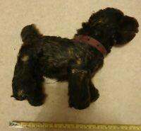 Antique Teddy Dog With Collar Straw Dor Restoration