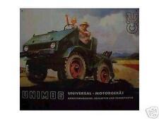 Älteres Blechschild Unimog Mercedes Traktor Agrar Reklame Werbung gebraucht used