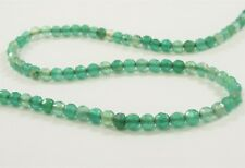 3mm Faceted Green Agate Natural Semi Precious Stone Beads Natural Gemstone(#643)