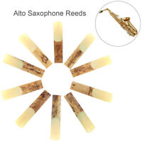 10pc Alto bE 2-1/2 Saxophone Reeds Bamboo Strength 2.5 for Saxophone Accessories