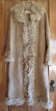 UGG Coat Long Drama Shearling Curly Lamb Sm NEW $2400