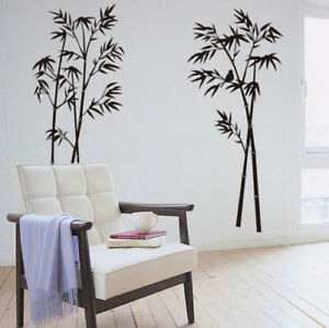 Wall Stickers XXL Bamboos Black Wall Tattoo Wall Art Decal Home Decor All Rooms