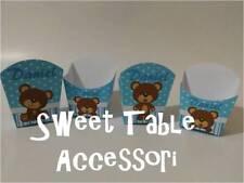 5 porta patatine festa compleanno party set sweet table kit battesimo orsetti