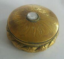 Vintage brass patch box
