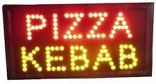 LEUCHTREKLAME LED - PIZZA KEBAB. IDEAL FUR SCHAUFENSTER.