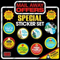 NEW! Set of 11 STAR WARS Vintage Collection Mail Away Figure Offer logo stickers