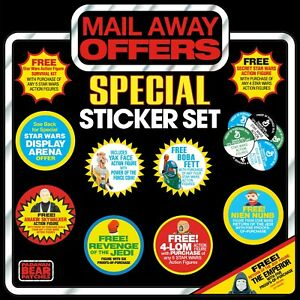 NEW! Set of11 STAR WARS Vintage CollectionMail Away Figure Offer logo stickers