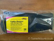 Mains cable holder storage keeper + BAG caravan motorhome hook up lead carrier