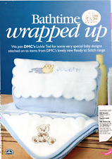 Lickle Ted Cross Stitch pattern from magazine - Bathtime Wrapped Up