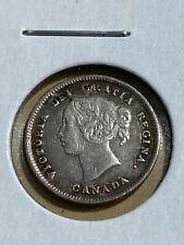 1891 Canada 5 Cents Silver Coin!!